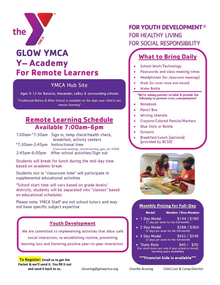 Open Slots for Before and After School YMCA Program